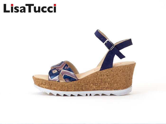 LISA TUCCI  - 301 SANDAL YEYE BLUEBLUE