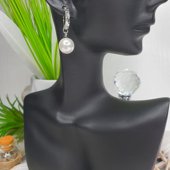 Pearl Drop Hoop 925 Earrings - AgiMagi