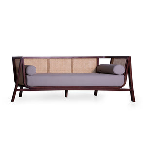 Grey Diamond Sofa-PineTreeLane