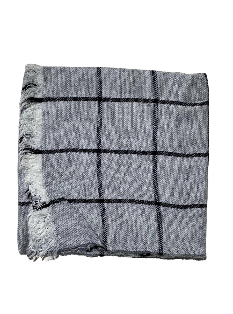 SB Checkered Blanket Scarf