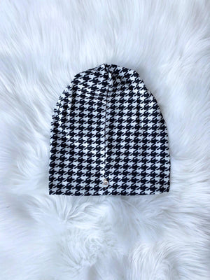 Houndstooth Black/White Beanie