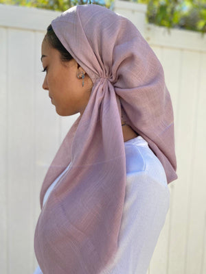 Versatile Pretied Headscarf Solid Light Pink