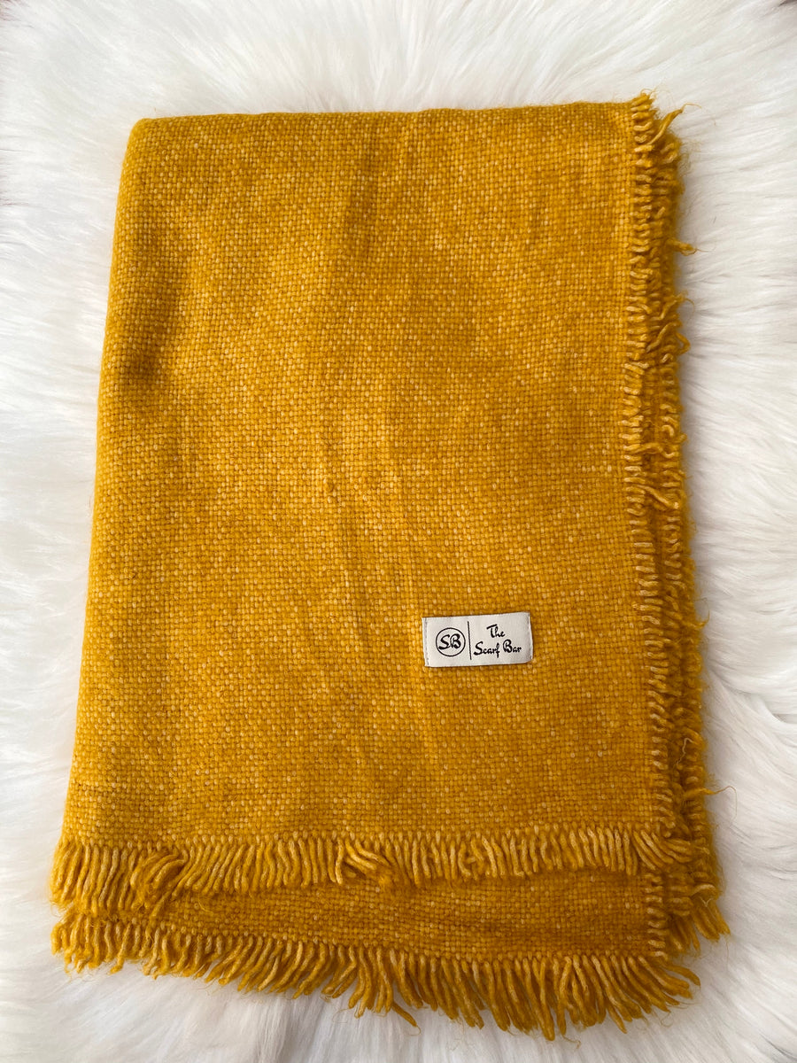 Yellow Solid Blanket Scarf