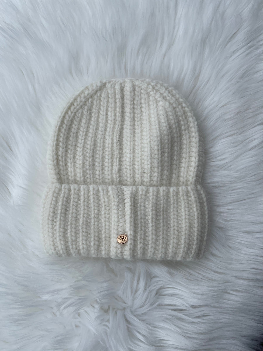 Fluffy Knitted Cuff Beanie