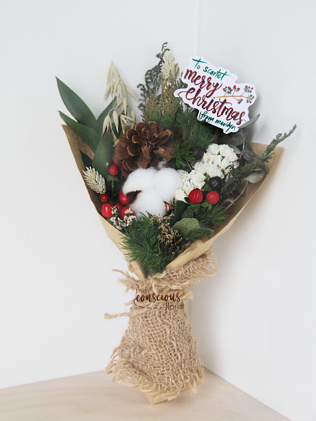 Christmas Dried Flowers Bouquet