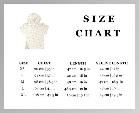 spring fling floral human hoodie sweater size chart