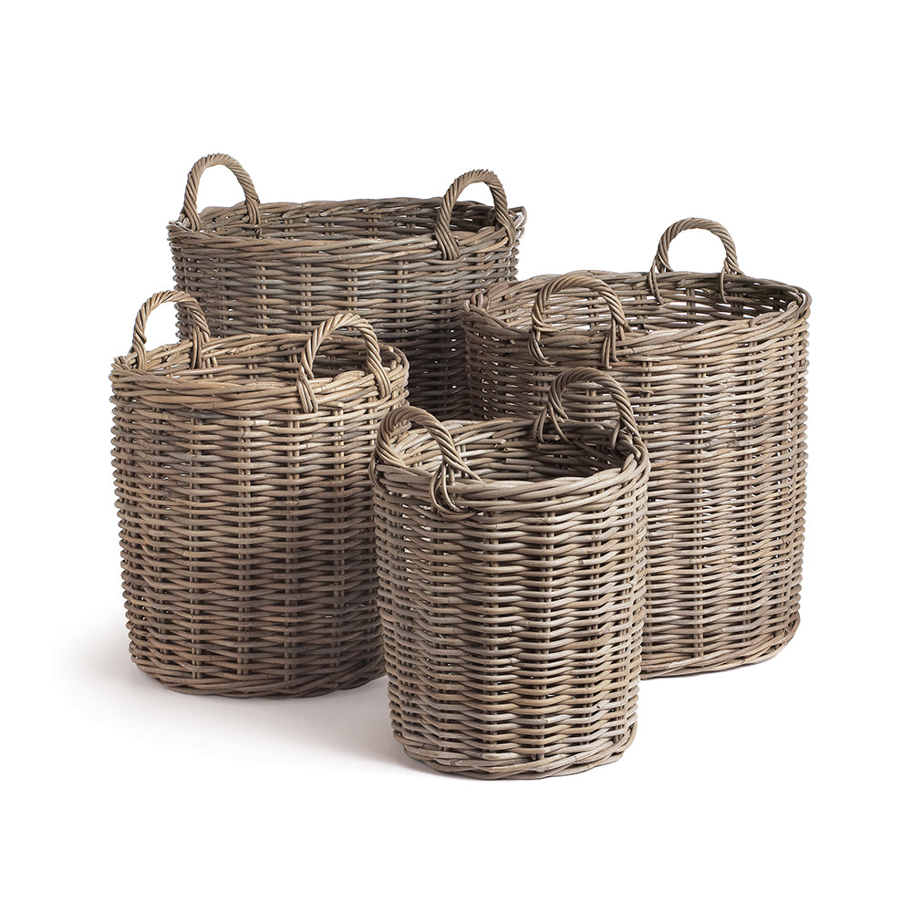 NORMANDY ROUND BASKETS, SET OF 4