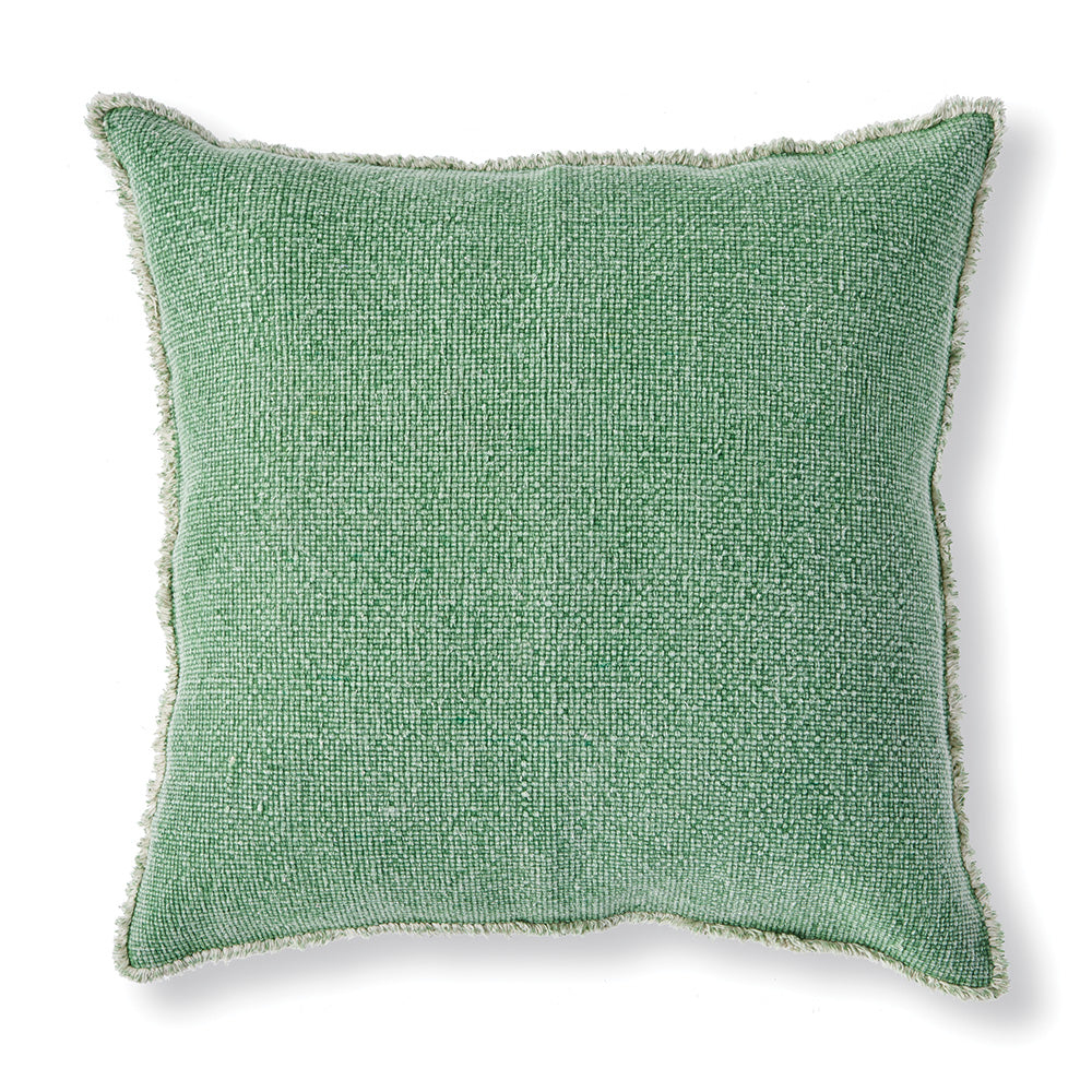 WOVEN FRINGED SQUARE EURO PILLOW