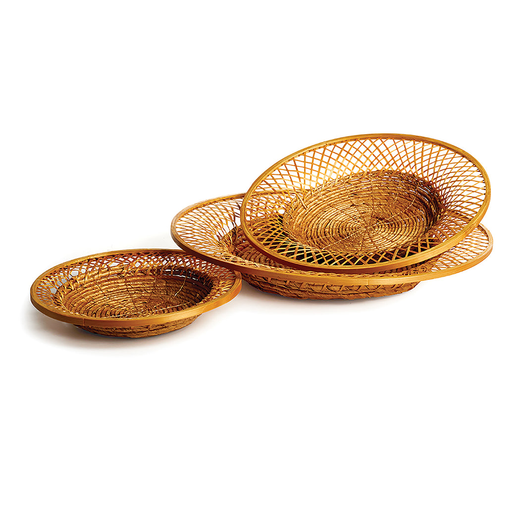 KOLAKA DECORATIVE PLATES, SET OF 3