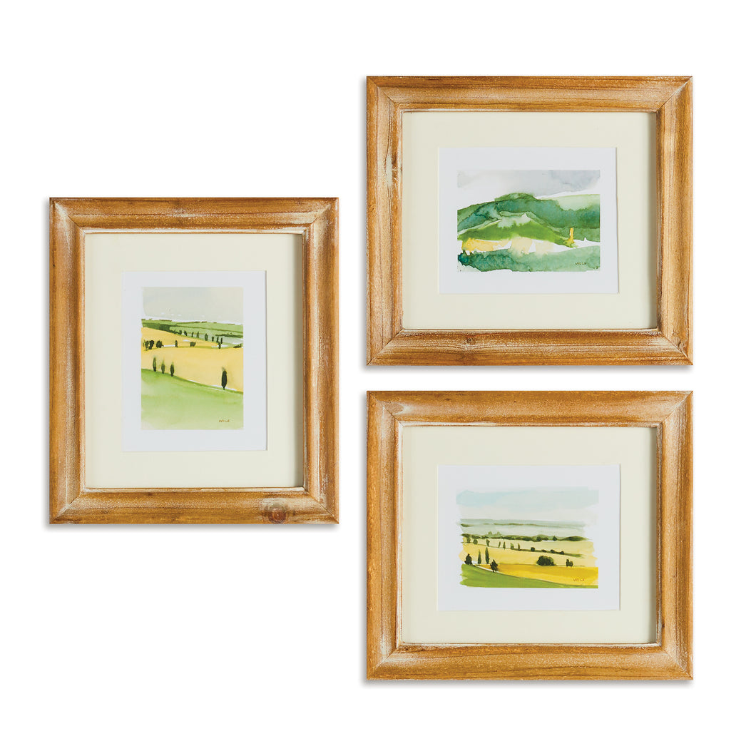 ITALIAN LANDSCAPE PRINTS, SET OF 3