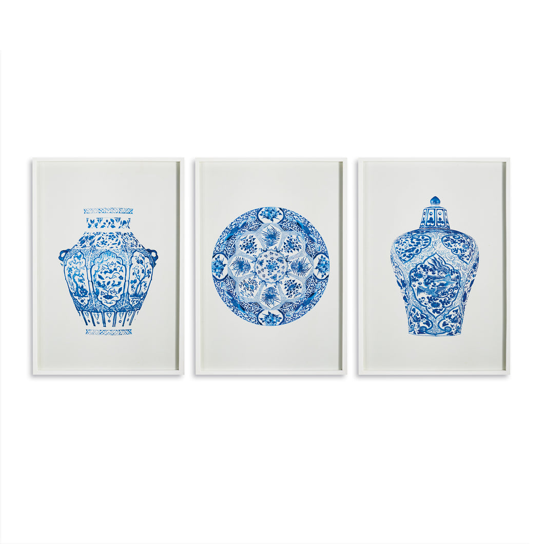 DYNASTY PRINTS, SET OF 3