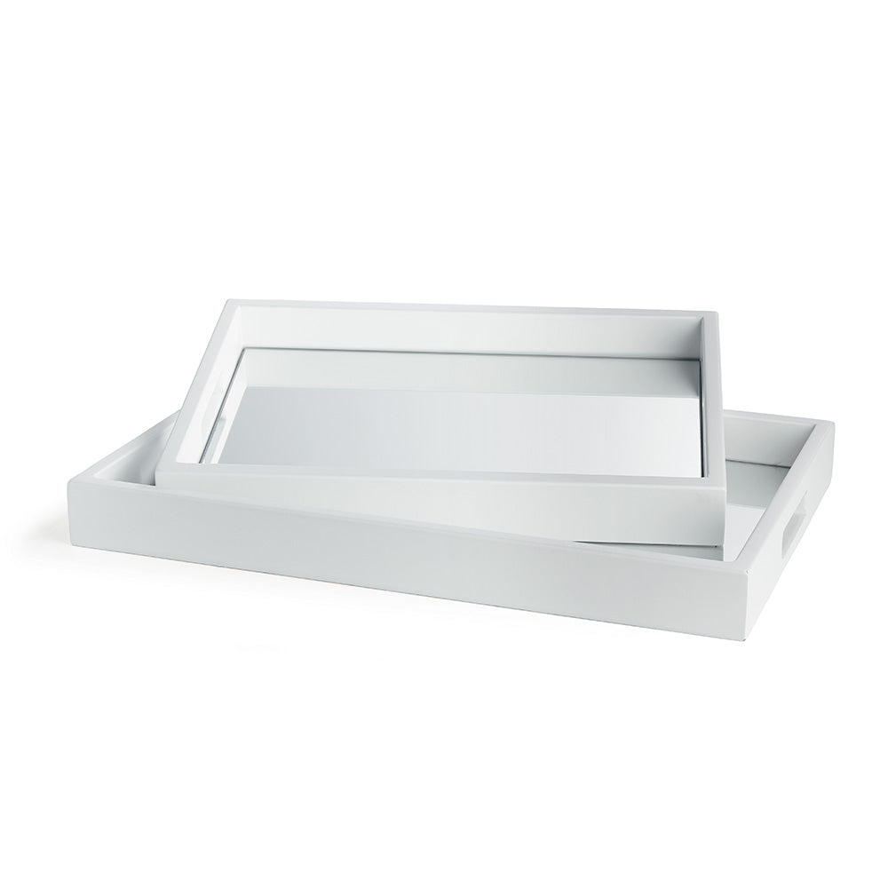 MALIBU MIRRORED TRAYS, SET OF 2