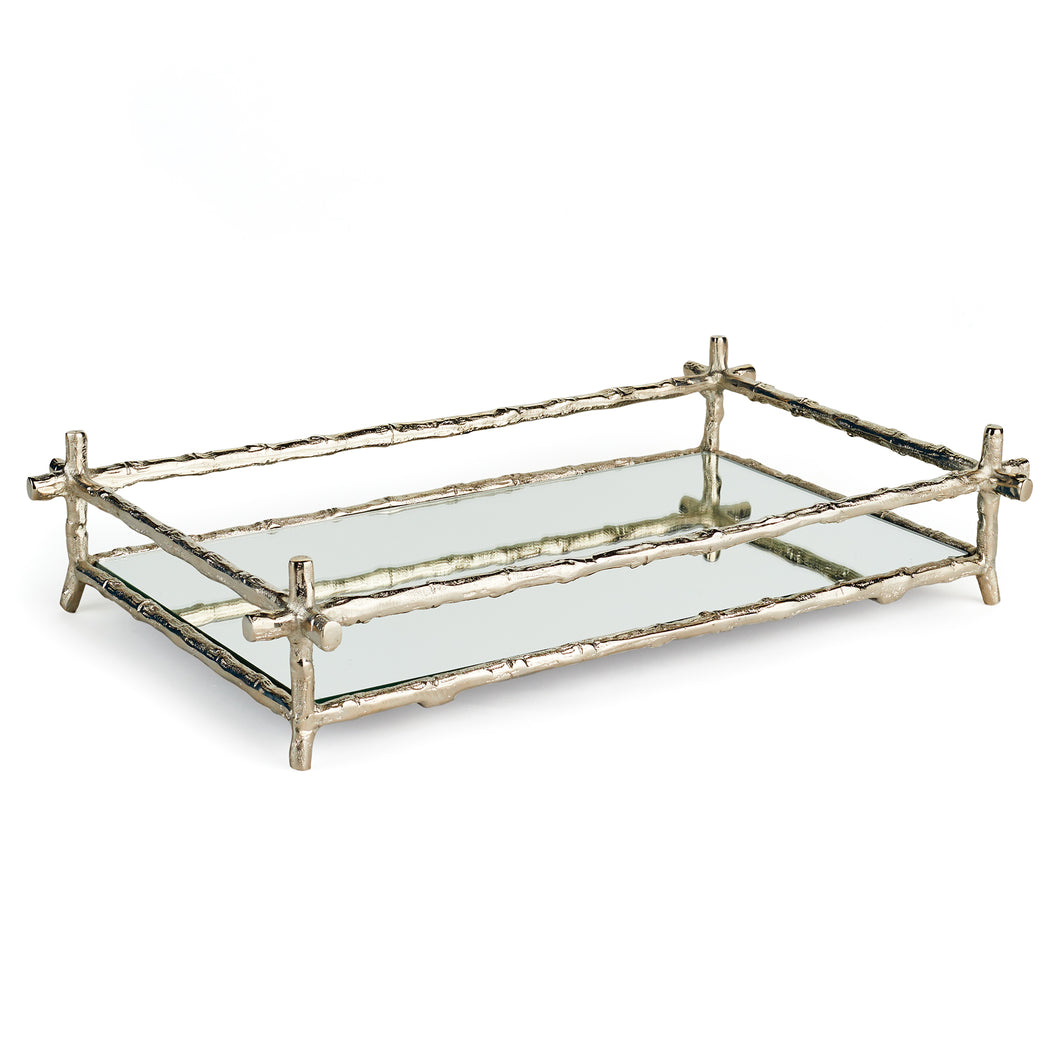 BARCLAY BUTERA BRENTWOOD MIRRORED TRAY