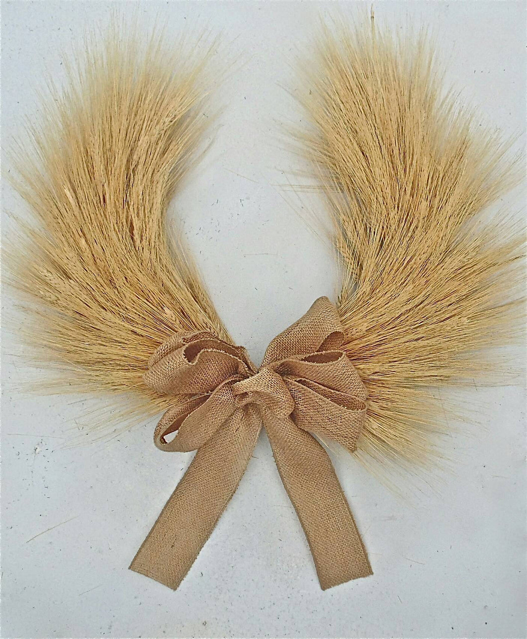 Thanksgiving and Christmas Blond Wheat Chevron Autumn Fall Wreath - country front door indoor wheat wreath- Horse Shoe Wreath 22 Inch