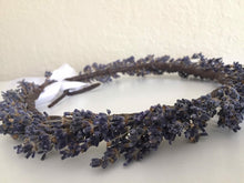Load image into Gallery viewer, lavender flower hair crown, Autumn Wedding , bridal, bridesmaid, flower girl flower crown,  boho  floral crown (preorde for end of July)