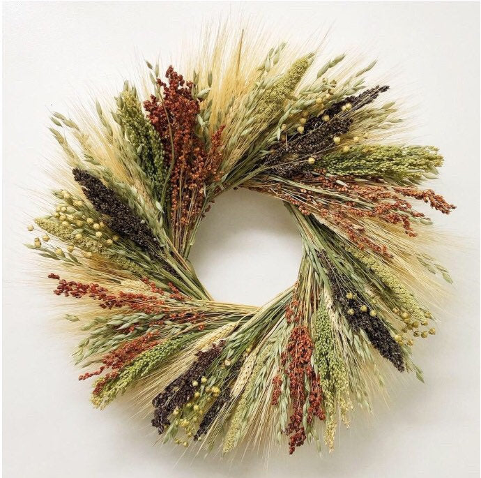 Birdfeed organic wreath- a great bird lover gift! October delivery