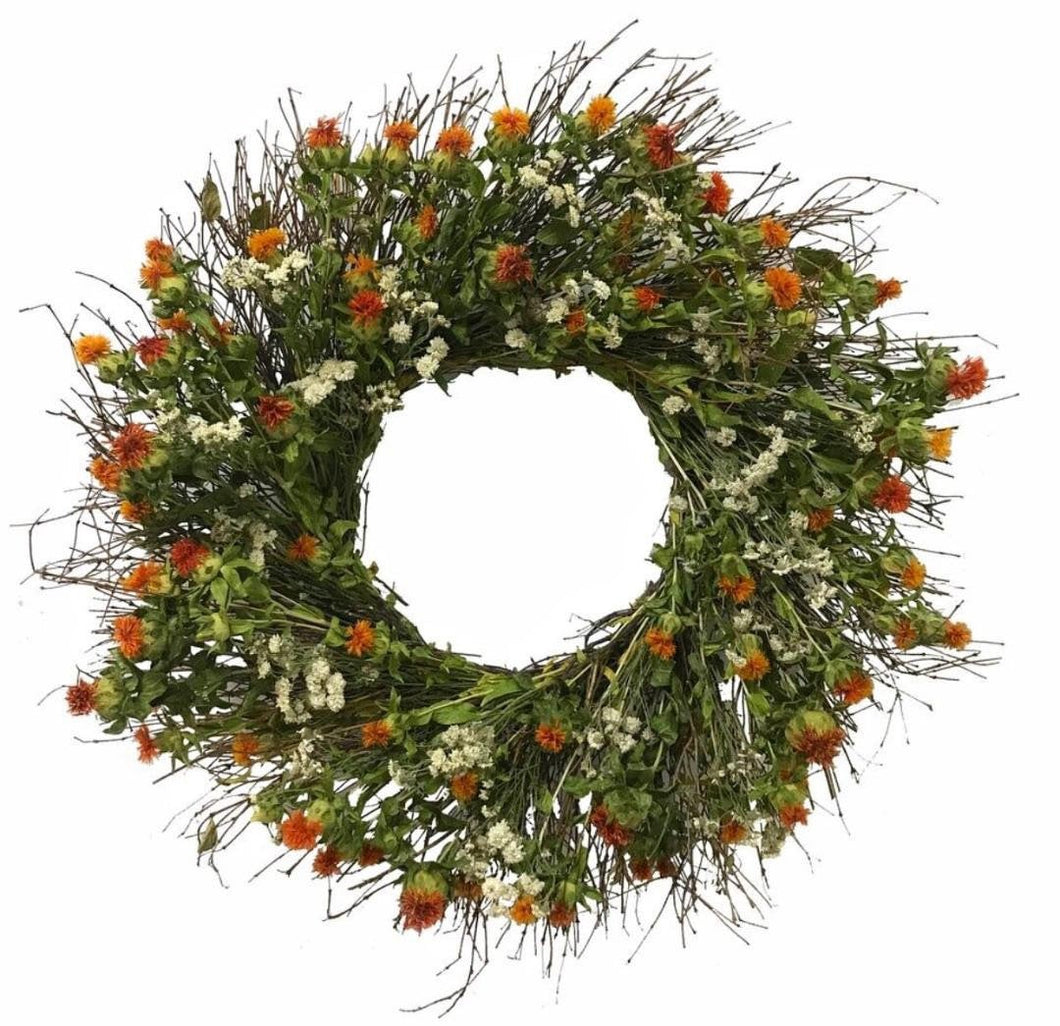 New Design! - Harvest Honey - Dried floral wreath 22 Inch