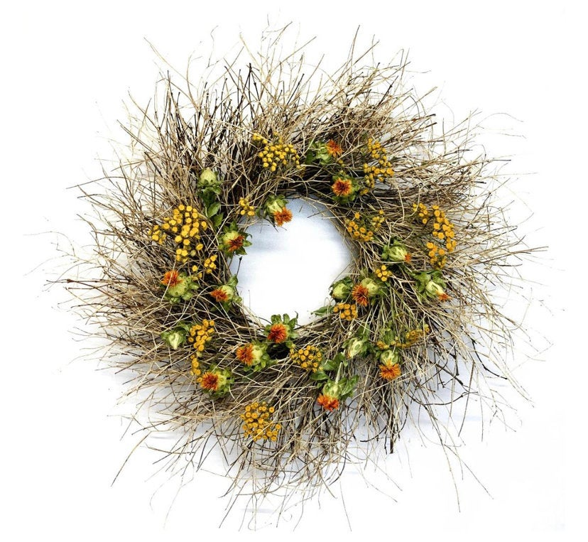 Tumbleweed & Tansy Wreath - lovely Fall / Autumn wreath 22 Inch