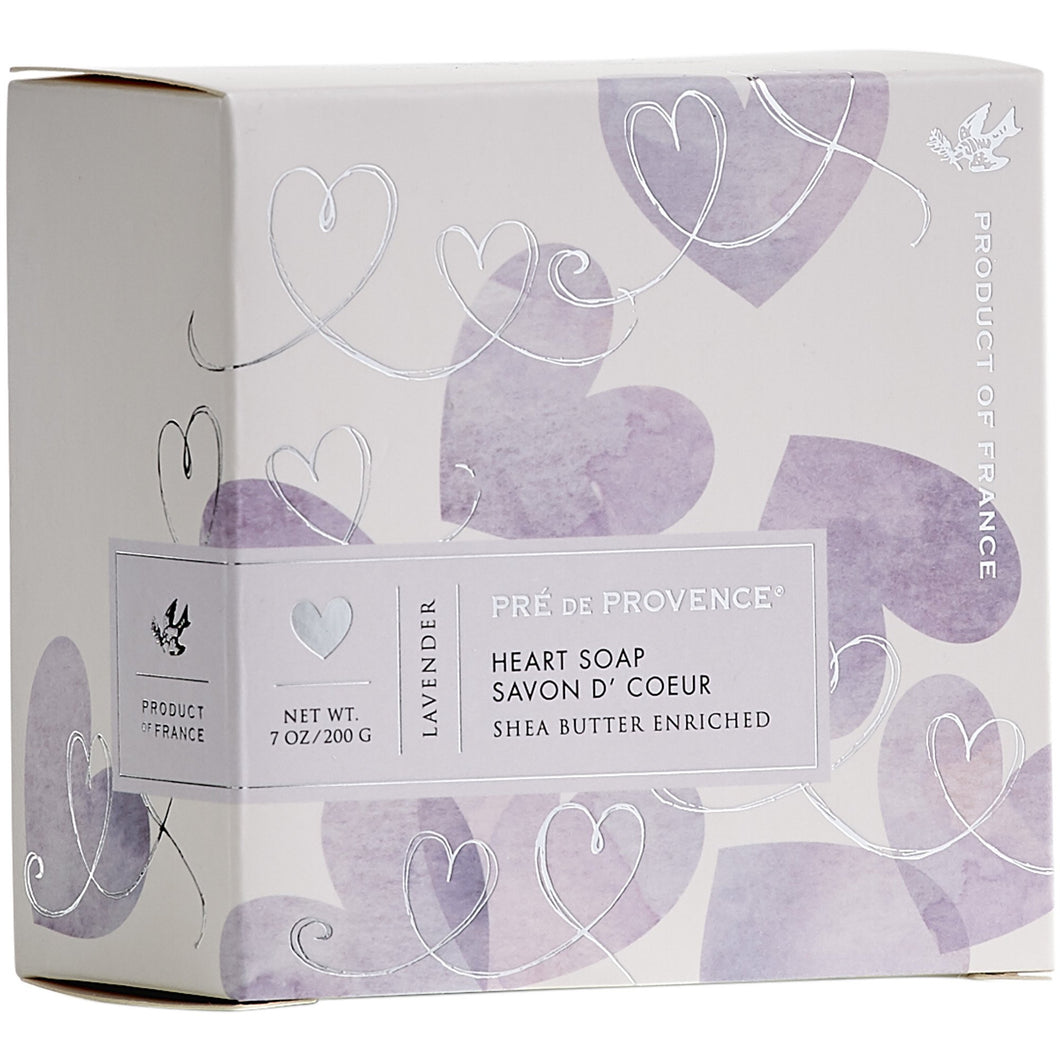 200g Heart Soap Gift Box - Lavender