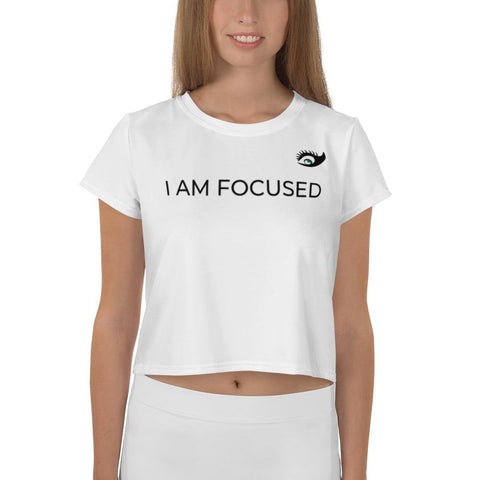 Women's Focused Artworks Crop Top