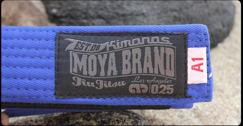 Moya Brand Adult BJJ Belt - Blue
