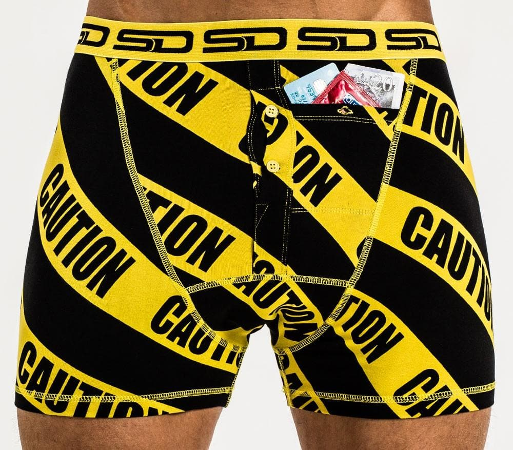 Smuggling Duds Boxer Shorts - Caution - StockBJJ