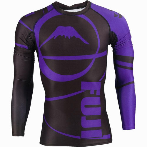 Rashguard (Lycra) Fuji Sports Freestyle IBJJF Ranked - Manga Larga Morado