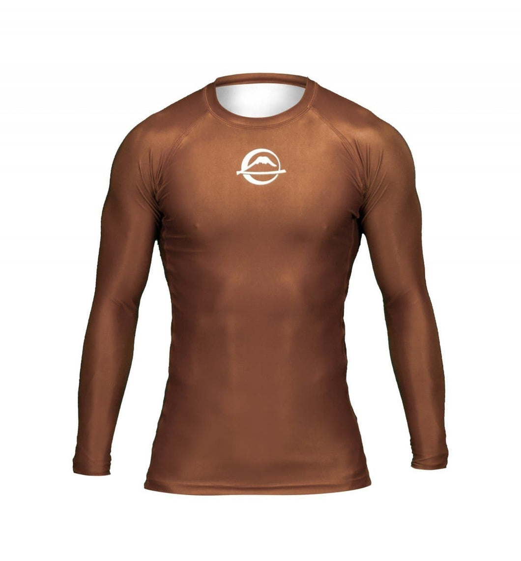 Rashguard (Lycra) Fuji Sports Baseline Ranked - Marrón - StockBJJ