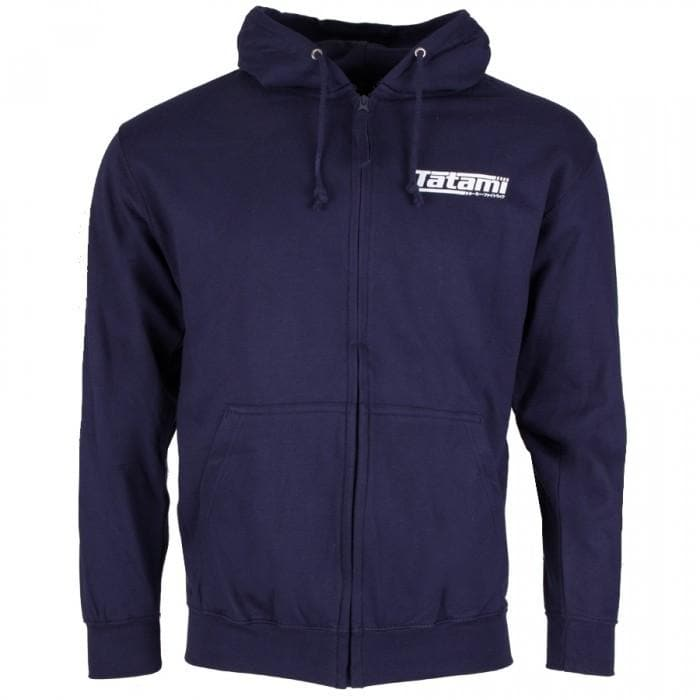 Tatami Basic Zip Up Hoodie- Azul Marino - StockBJJ