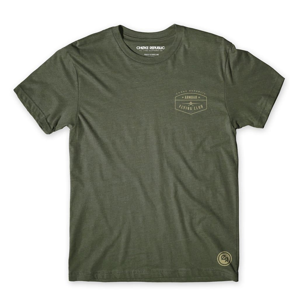 Camiseta Armbar Flying Club- Verde Militar - StockBJJ