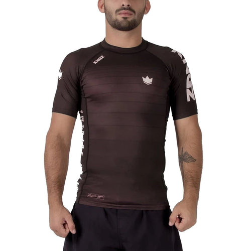 Rashguard Kingz Ranked V5 Short Sleeve - Marrón