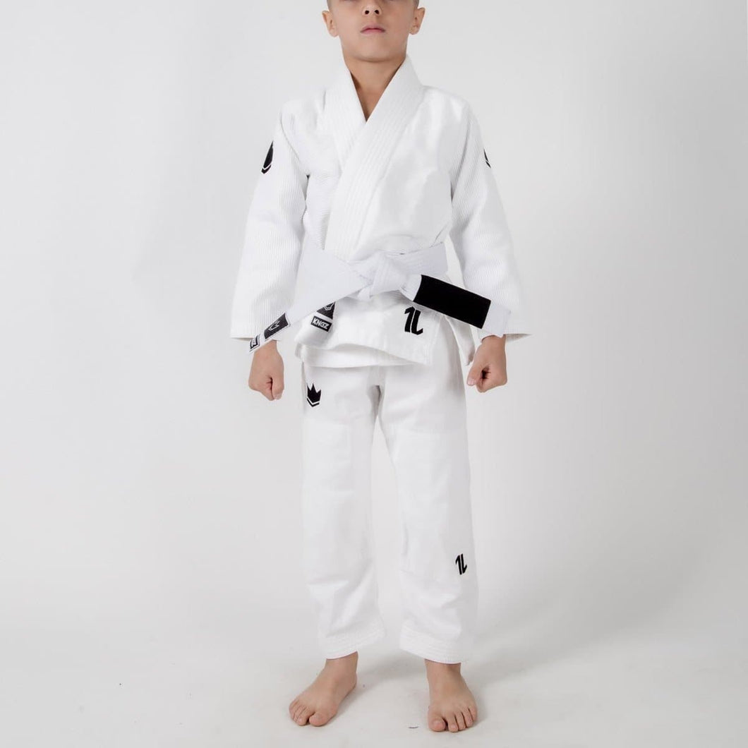 Kimono Kingz Kid´s The One Blanco con cinturón blanco - StockBJJ