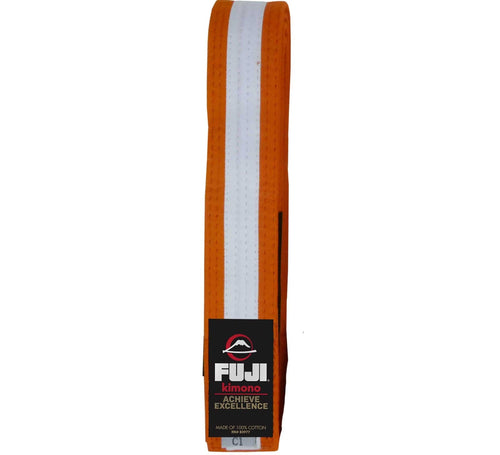 Fuji Kids BJJ Belts - Orange-White