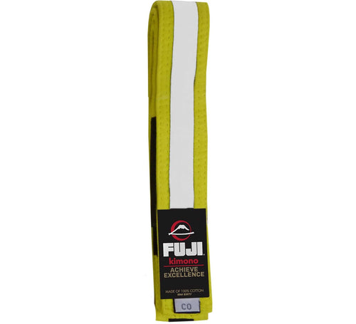 Fuji Kids BJJ Belts - Yellow-White