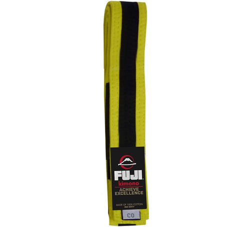 BJJ Fuji Kids Belts - Yellow-Black