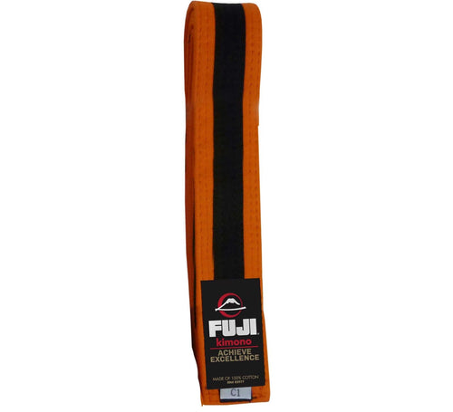 Fuji Kids BJJ Belts - Orange-Black