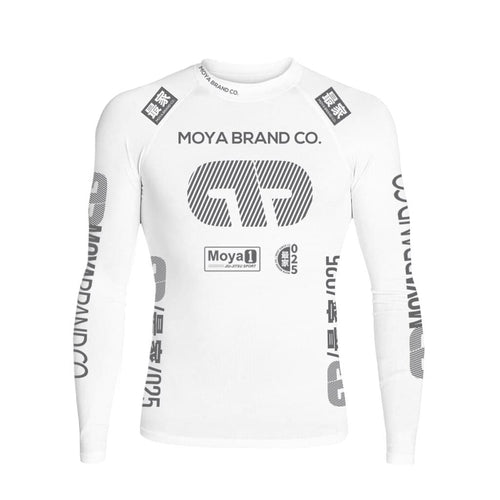 Rashguard Team Moya Manga Larga - Blanco