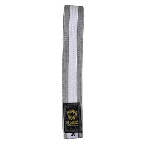 Kingz Kids Belts - Gray with White Line
