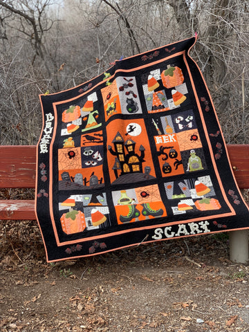 Beware! It's Halloween, Block of the Month Completed Quilt