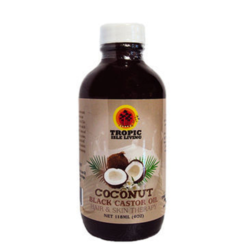 Tropic Isle Living Jamaican Coconut Black Castor Oil 4oz