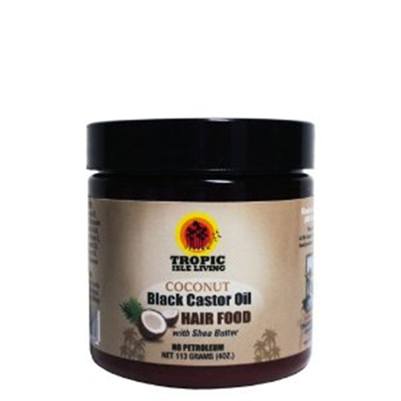 Tropic Isle Living Coconut Jamaican Black Castor Oil Hair Food 4 oz