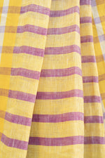 Load image into Gallery viewer, Lavender Bhagalpuri Linen Saree