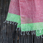 Load image into Gallery viewer, Comfy Cools Pastel Red Linen Stole