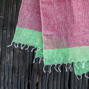 Comfy Cools Pastel Red Linen Stole