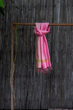 Load image into Gallery viewer, Bahaar Bougainvillea Light Pink Ombre Handwoven Silk Stole