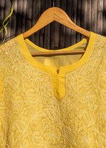 Load image into Gallery viewer, Noor Yellow Chikankari Kurta