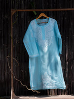 Load image into Gallery viewer, Falak Sky Blue Chikankari Kurta