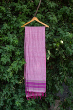 Load image into Gallery viewer, Plain Pink Cotton-Linen Stole