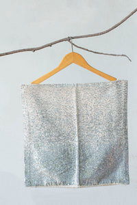 Grey Sequin-embellished Handcrafted Cotton Cushion cover
