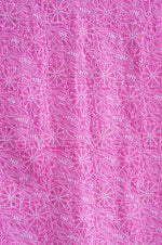 Load image into Gallery viewer, Jumaana Keri Buta Pink Unstitched Chikankari Suit Material